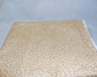 Destash- Tan Vine Patterned Fabric Yardage