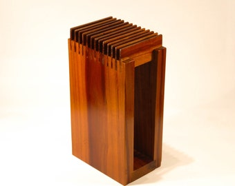 Knife Block Holder - Plum Wood - Handmade