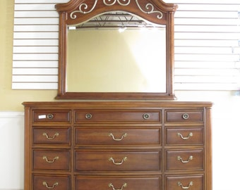 34587E/34588E:  AMERICAN DREW Cherry Dresser and Matching Mirror
