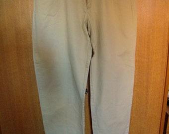 Jeans beige men, cotton pants, Blacksmith 1980