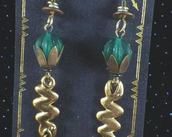 Snakes 24k Gold Plated Earrings