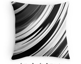 Black White Pillow, Black White Decorative Pillow, Black White Gray Pillow, Gray Abstract Pillow, Gray Throw Pillow, Black White Decor
