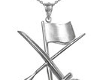 Color Guard Flag Rifle Saber Silver Necklace | Free Fast Shipping