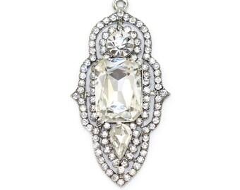 Crystal Great Gatsby Pendant Art Deco Medallion DIY Crafts