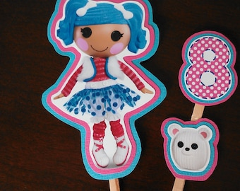 LaLaLoopsy Cake Cupcake Toppers Mittens Fluff N Stuff Customizable