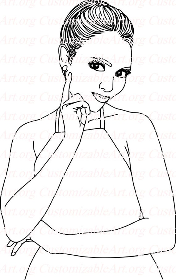 Line Art Etsy : Items similar to black and white line drawings simple
