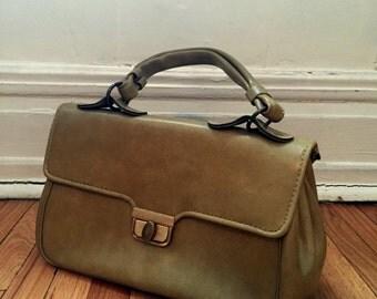 Vintage Retro Golden Green Handbag