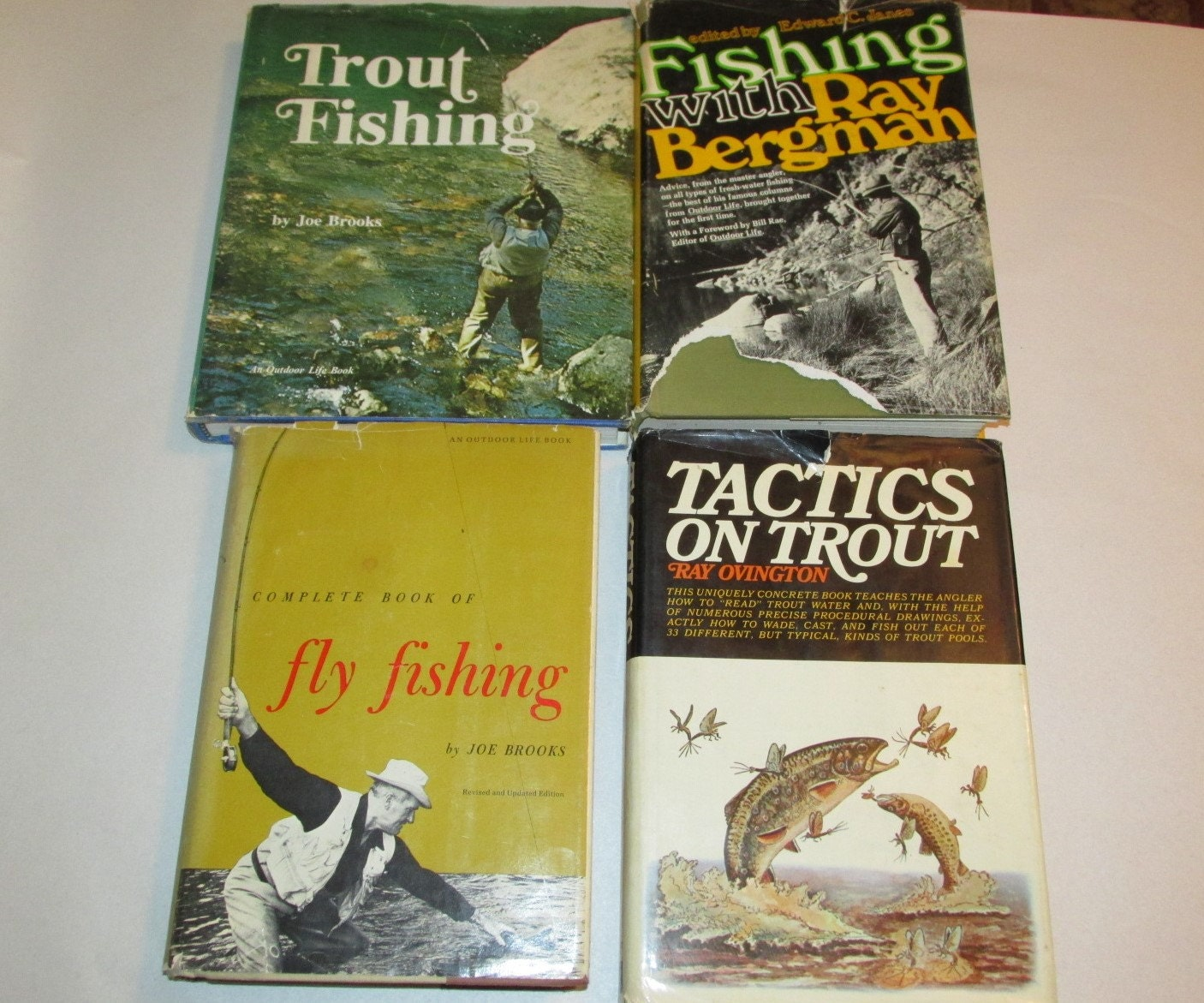 Vintage Lot Of 4 Fishing Books Trout Fishing Fly Fishing