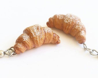 Croissant Earrings Sprinkled With Sugar