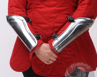 "Larp, Female Armor, Fantasy, Elf, Elven Costume ""Flamberg"" steel  bracers for women: arm bracers"