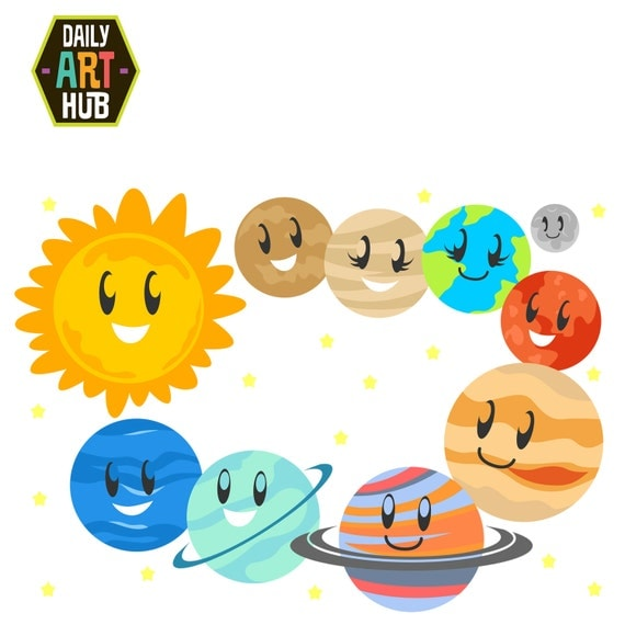 Cute Planets Clip Art Solar System Clip Art Outer Space