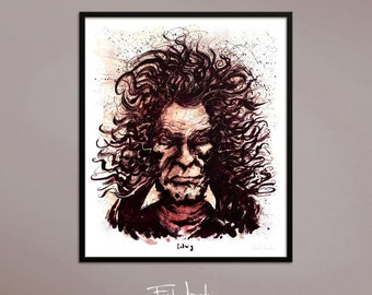 Beethoven poster, by Fred Jourdain