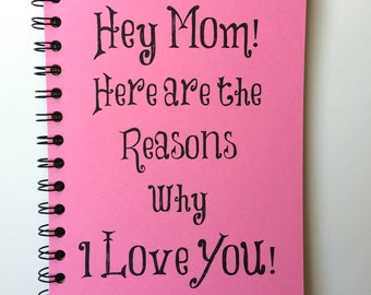Birthday Gift for Mom, Mothers Day Gift, Notebook, Gift, From Daughter, Bullet Journal, Journal, Mothers Day, Personalized, mom, Spiral