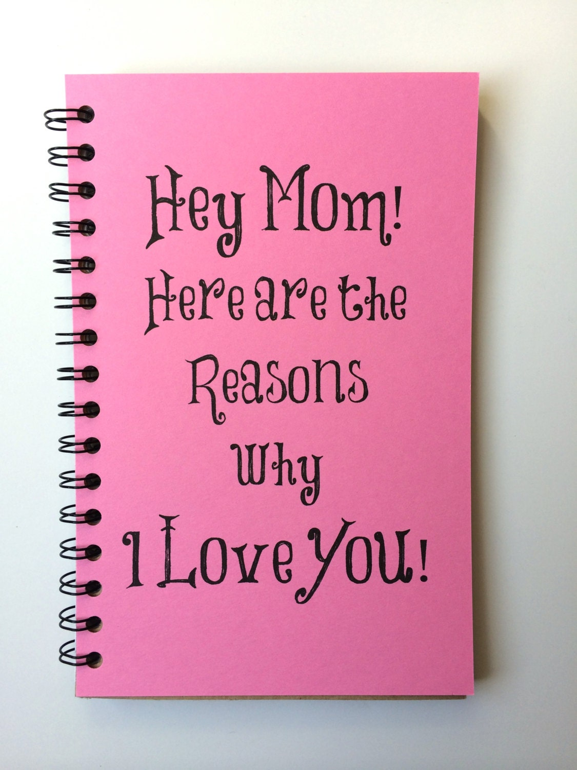 Birthday gift for mom mothers day gift notebook gift from for Great present for mom