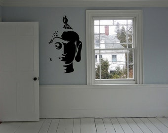 Buddha Head Religion Wall Art Sticker Decal nm113