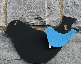 Bird blackboard, chalkboard or Memoboard !