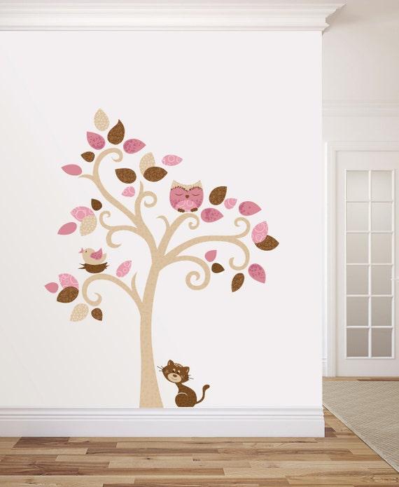 Albero adesivo da muro cameretta bambini wall decal wall - Stencil per pareti ikea ...