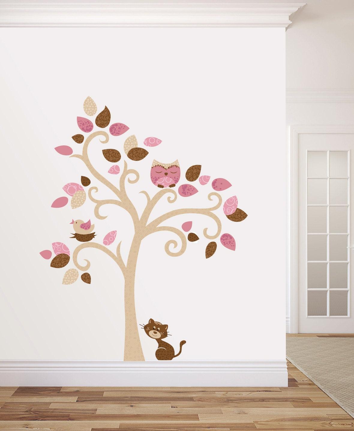 Albero adesivo da muro cameretta bambini wall decal wall - Albero su parete ...