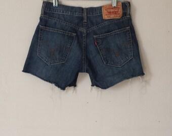 Levi's Cut Off Shorts//Levi's Denim Shorts