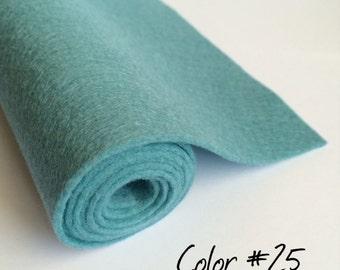 "Pure wool felt roll, 20x80cm wool felt, 8""x31"" 100% wool felt, European felt, made in Spain, wool felt fabric, #25 blue color wool felt"