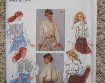 UNCUT Misses Blouse - Simplicity Sewing Pattern 9653 - Vintage 1995
