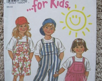 UNCUT Childrens Dress, Coveralls, Overalls - Simplicity Sewing Pattern 6374