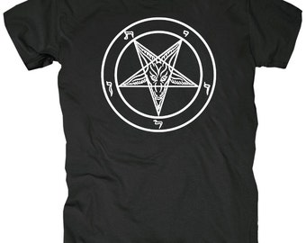 Pentagram T-Shirt Unisex Adults Pentagram Satan Antichrist Evil Lavey Church of Satan