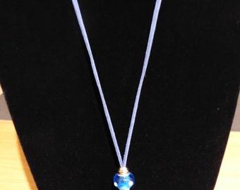 Haematite Pendant with Glass Bead