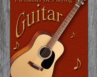 Mouse Pad - I'd Rather Be Playing Guitar - Free Shipping