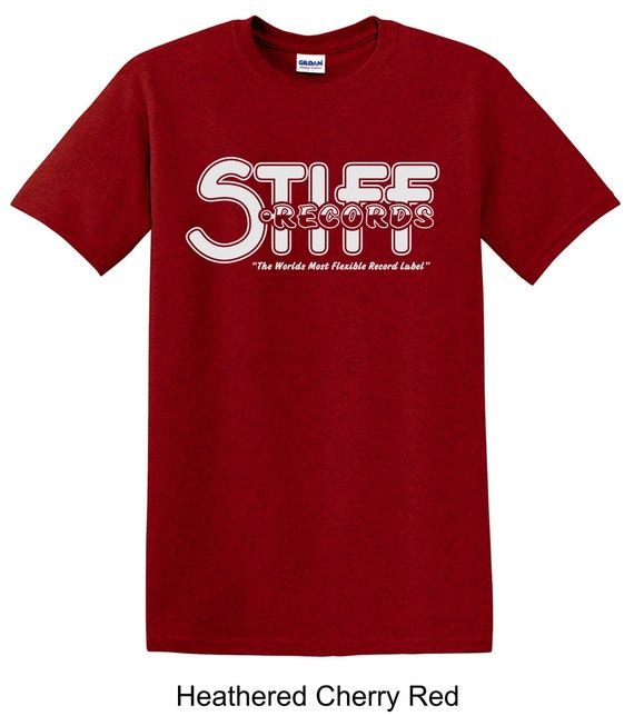 Stiff records vintage record label tee shirt long by tsteesusa for Vintage record company t shirts
