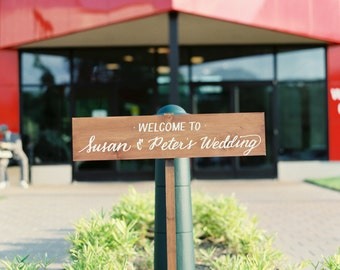 Personalized, Hand Painted, Wooden Sign for Weddings