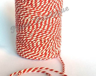 Red & White 2mm 100% Cotton Bakers Twine by James Lever