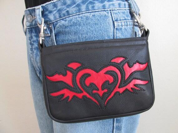Creative Hip BagBlack Hip Bag Women Hip Bag Crossbody BagLeather Bag