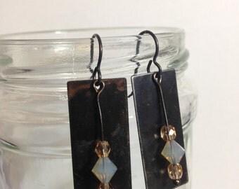 Metal and Beaded Earrings