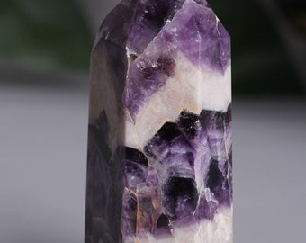 Chevron Banded Amethyst Crystal Point Healing/Natural Dream Amethyst Quartz Crystal Point Healing 220