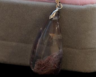 Crystal Pendant ,Quartz gemstone pendants, Rock quartz necklaces phantom ghost quartz jewelry stone 253