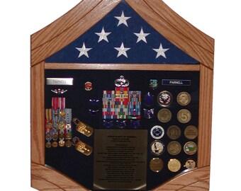 Air Force Senior Master Sergeant (E8) Shadow Box - 3x5 Flag