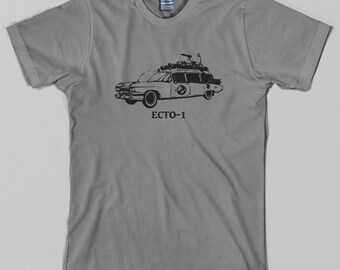 Ecto 1 T Shirt, ghostbusters, hearse, 80s, bill murray, movie - Graphic Tee, All Sizes & Colors