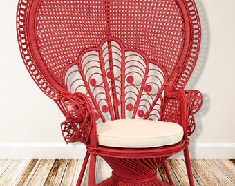 Lani Peacock Chair In Scarlet