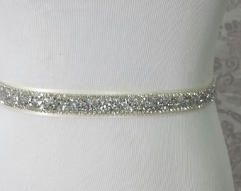 Wedding Sash - Bridal belt - bridal sash - bridal rhinestone sash - Wedding Sparking sash - bridal rhinestone belt