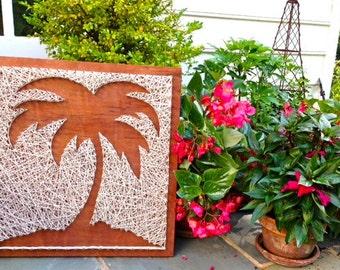 Palm Tree Wood & Nail Art