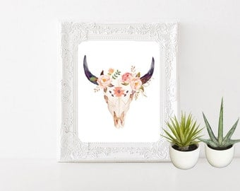 Bull Skull Wall Decor cow skull wall art | etsy