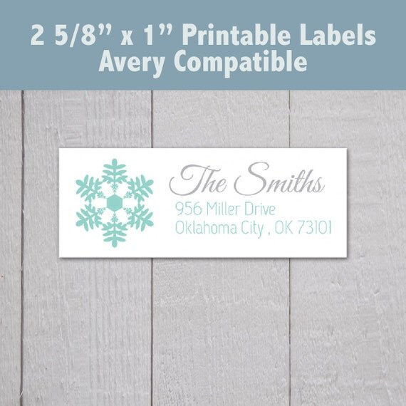 Items similar to printable christmas address labels snowflake address labels pdf avery 2 5 8 for Printable christmas address labels