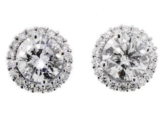 Diamond Earring Jackets For Diamond Studs  14K WG