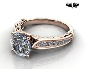 Moissanite Engagement Ring 14kt Rose Gold #6771