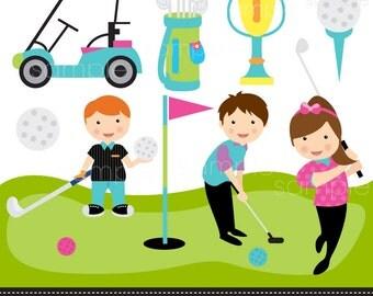 Popular items for kids golfing on Etsy Kid Golfer Clipart