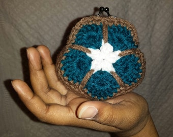 Crochet Flower Coin Purse