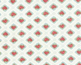 MODA - Ambleside - Ducks Egg - Brenda Riddle Acorn Quilt Eyelet Roses - Light Blue - 18602 13