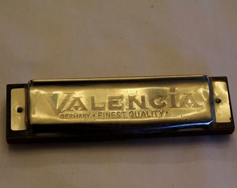 Vintage German Made Valencia Harmonica