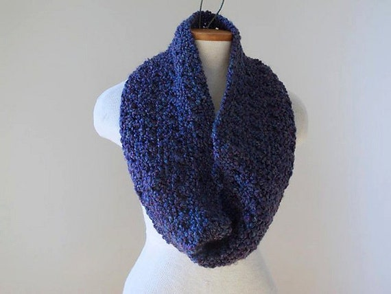 Infinity Scarf Knitting Pattern Lion Brand : Items similar to KNITTING PATTERN Boucle Eyelet Infinity Scarf In Two Sizes P...